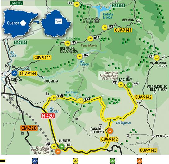 Mapa Ruta de los Dinosaurios